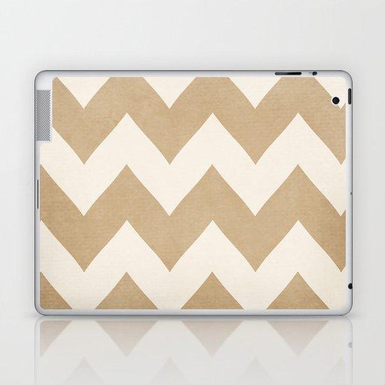 Biscotti & Vanilla - Beige Chevron Laptop & iPad Skin