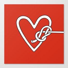 love me knot Canvas Print
