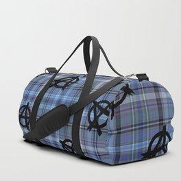 blue  plaid anarchy Duffle Bag