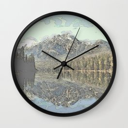 Pyramid Lake Reflections Wall Clock