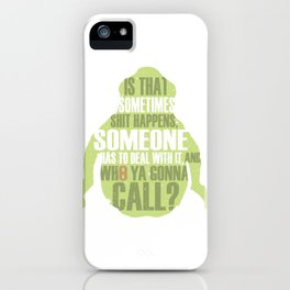 Who ya gonna call? Ghostbusters Tribute iPhone Case