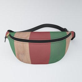 Red, Green & Wood Fanny Pack