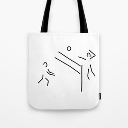 volleyball clench wet Tote Bag