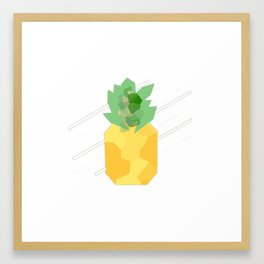 Pineapple crystal Framed Art Print