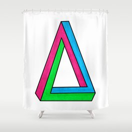 Impossible Isosceles Shower Curtain
