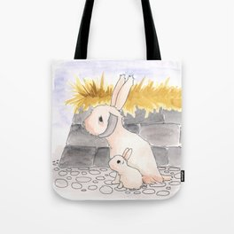 Long Haired Jackalope and baby Tote Bag