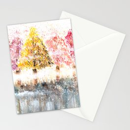 Watercolor Little Forest Illustration Stationery Cards