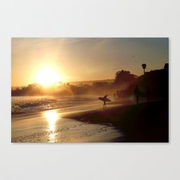 Walking Into the Sun Canvas Print