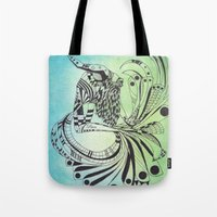 pisces Tote Bags featuring Pisces by Heaven7