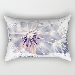 Dandelion Blue Graphic - Horizontal  Rectangular Pillow
