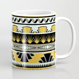 art deco stripes - honey Coffee Mug