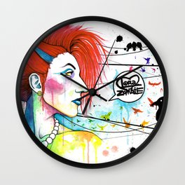 Lora Zombie Wall Clock