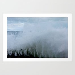 A Gale to Blow the Year Out #2 (Chicago Waves Collection) Art Print