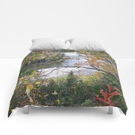 Winding River in Autumn Comforters