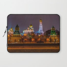 Moscow Kremlin cathedrals at night Laptop Sleeve