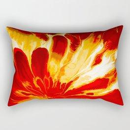 Red Explosion Rectangular Pillow