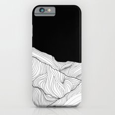Lines in the mountains - b&w iPhone 6s Slim Case