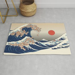 The Great Wave of Chihuahua Rug