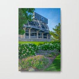 Penn State University Football Stadium Flowers Metal Print