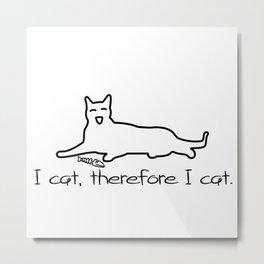 Cat Print I cat Metal Print