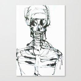 INK SKELETON Canvas Print