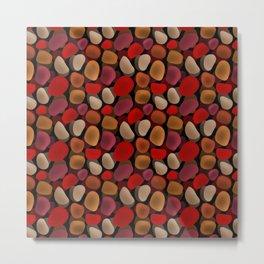 Abstract pattern . Sea stones .2 . Metal Print
