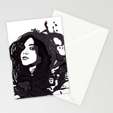 Girl face Stationery Cards