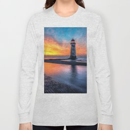 Lighthouse Sunset  Long Sleeve T-shirt