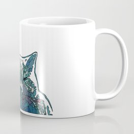 Abstract Face Cat in Vector style Coffee Mug
