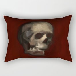 Cracked Skull illustration painting Rectangular Pillow