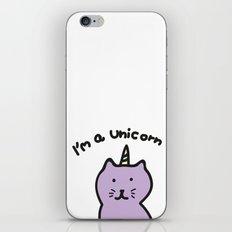 Cat unicorn iPhone & iPod Skin