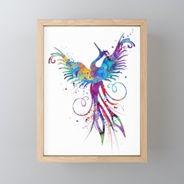 Phoenix Watercolor Print Nursery Art Gift for Her Bird Art Framed Mini Art Print