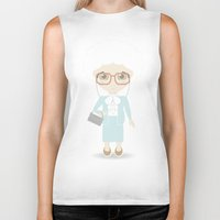 golden girls Biker Tanks featuring Girls in their Golden Years - Sophia by Ricky Kwong