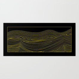 Waves Art Print