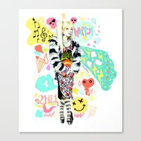 2ne1 Canvas Prints featuring 2NE1 Happy: CL by Haneul Home