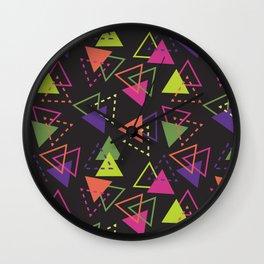 Triangles #1 Wall Clock