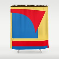 superhero Shower Curtains featuring Superhero Abstract by StevenARTify