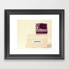 Polaroid Typography Framed Art Print