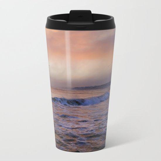 Morning on the coast Metal Travel Mug