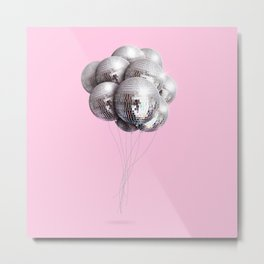 Disco Balloons Metal Print