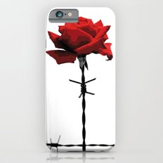 Barbed wire red rose iPhone 6s Slim Case