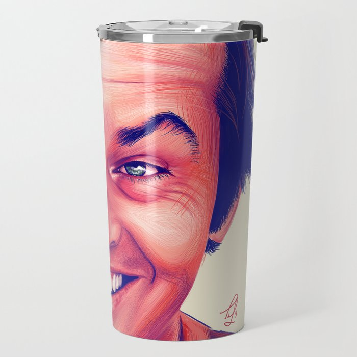 Young Jack Nicholson and the evil smile - digital painting Travel Mug