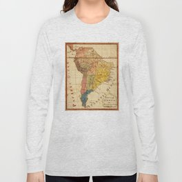 Vintage Map of South America (1816) Long Sleeve T-shirt
