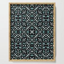 Oriental Geometric Print Pattern Serving Tray