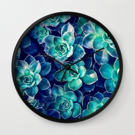 Plants of Blue And Green Wall Clock