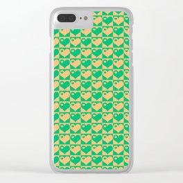 Herzen Liebes Collage Clear iPhone Case