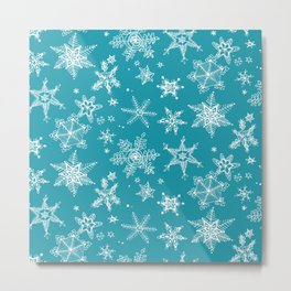 Snow Flakes 05 Metal Print