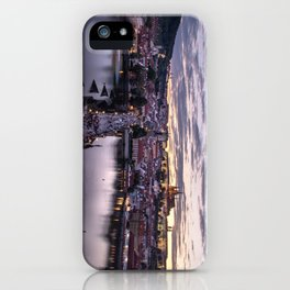 Prague sunsets iPhone Case
