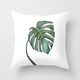 Monstera The One Throw Pillow