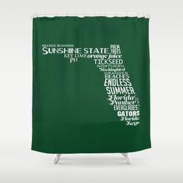 Florida State Love - Green Shower Curtain